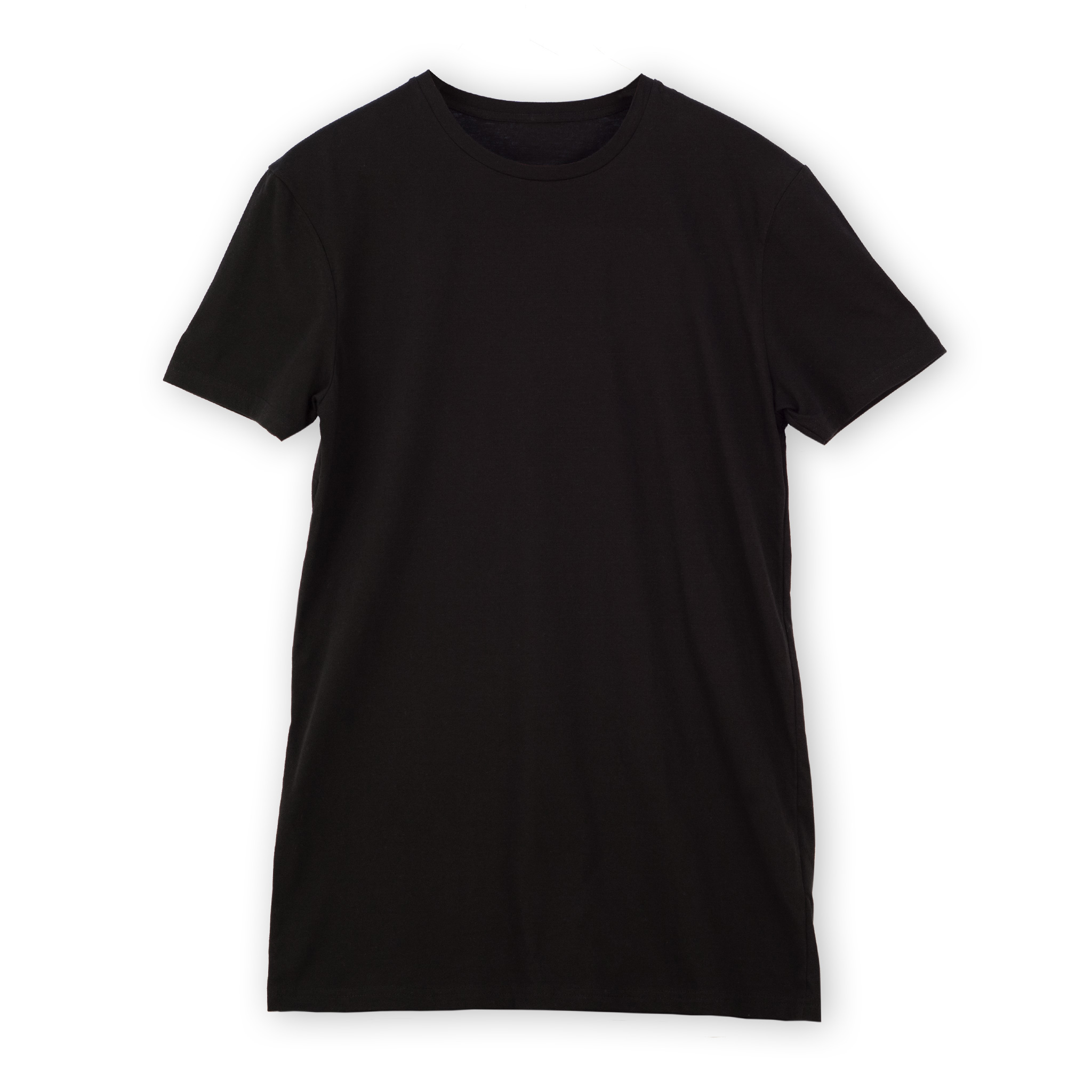 T-shirt men black long